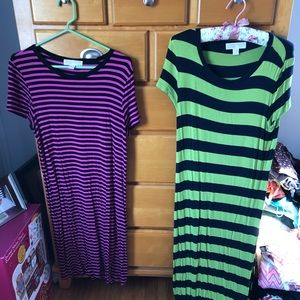 2 Michael Kors striped cotton dresses